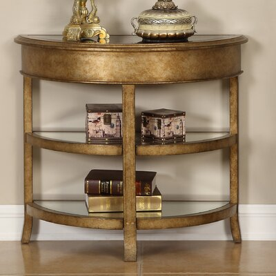 House of Hampton Jean Round Bevel Console Table