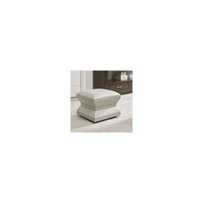 Lexington Laurel Canyon Leather Wheatley Ottoman Image