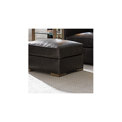 Lexington Shadow Play Leather Delshire Ottoman Image