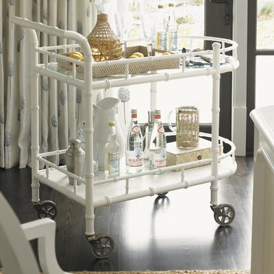 Tommy Bahama Home Ivory Key Warwick Serving Cart
