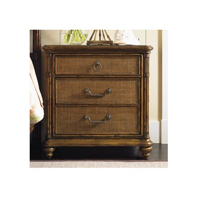 Tommy Bahama Home Bali Hai 3 Drawer Nightstand