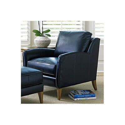 Tommy Bahama Home Twin Palms Coconut Grove Leather Arm Chair