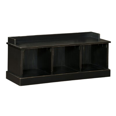 Chelsea Home Friendship Wood Storage Entryway Bench