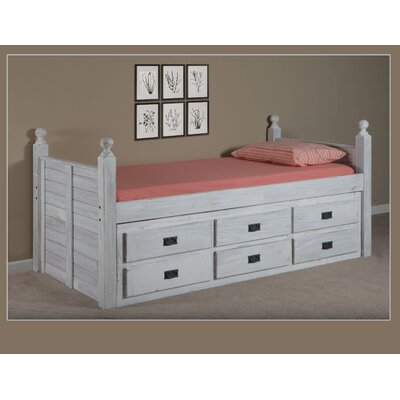Chelsea Home Captain Bed with 6 Drawers