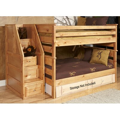 Chelsea Home Full Over Full Bunk Bed with Stairway Chest