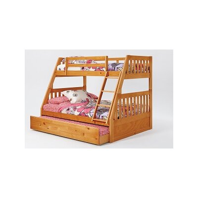 Chelsea Home Mission Twin Over Full Bunk Bed wit..