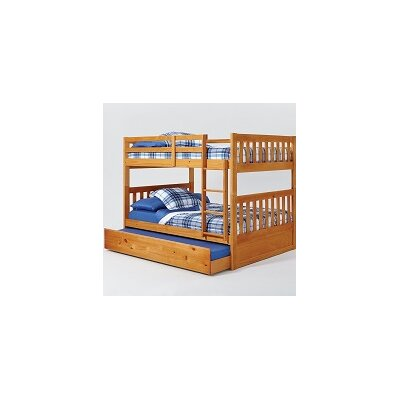 Chelsea Home Mission Full Over Full Bunk Bed with Trundle