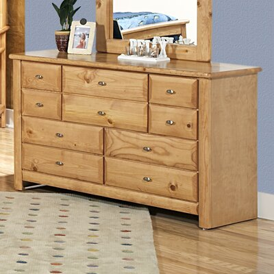 Chelsea Home 10 Drawer Double Dresser