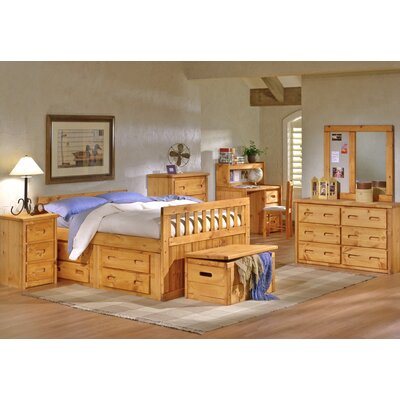 Chelsea Home Full/Double Slat Bed with Storage