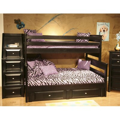 Chelsea Home Twin Over Full Bunk Bed with..
