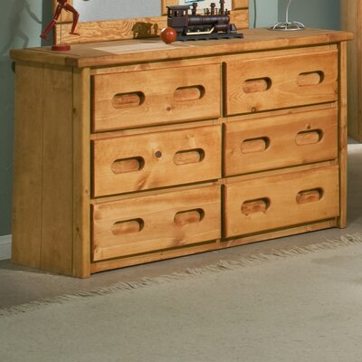 Chelsea Home 6 Drawer Double Dresser