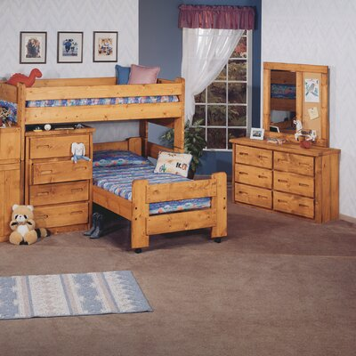 Chelsea Home Twin L-Shaped Bunk Bed Custo..
