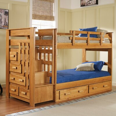 Chelsea Home Twin Bunk Bed with Storage