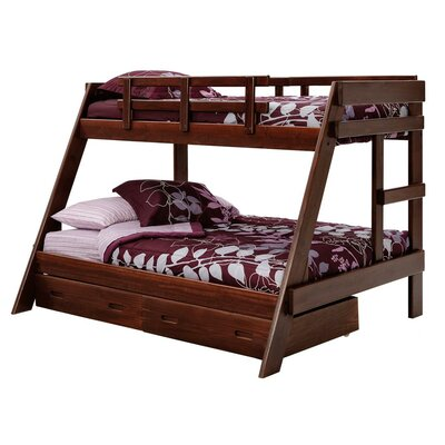 Chelsea Home Twin over Full Bunk Bed with St..
