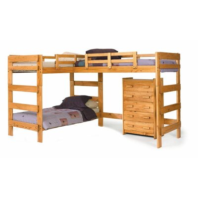 Chelsea Home L-Shaped Bunk Bed