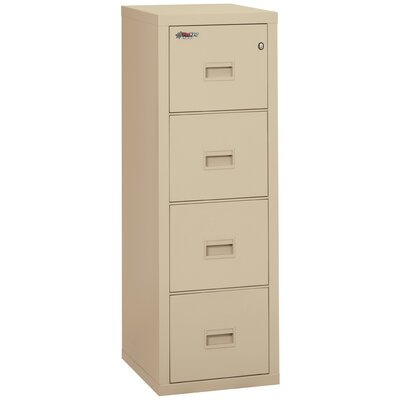FireKing Fireproof 4 Drawer Turtle Vertical Filing Cabinet