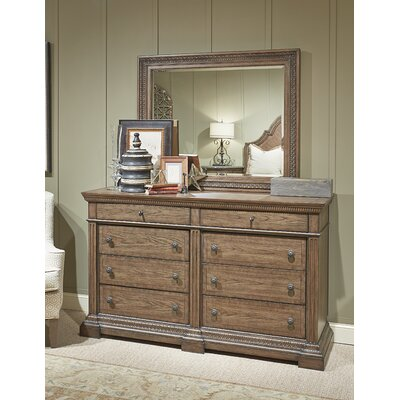Legacy Classic Furniture Renaissance 8 Drawer Dresser with Mirror