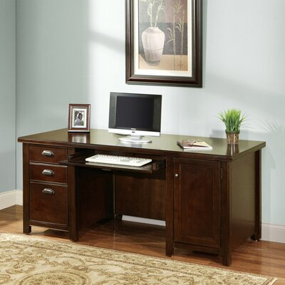 kathy ireland Home by Martin Furniture Tribeca Loft Cherry Executive Desk