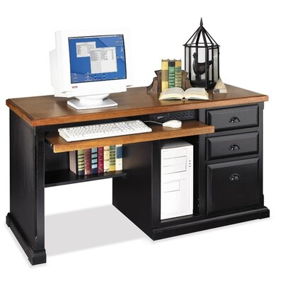 kathy ireland Home by Martin Furniture Southampton Oyster Single pedestal computer desk