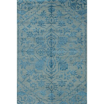 light blue traditional french floral wool persian area rug co hand knotted 4x6