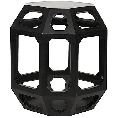 Noir Crete End Table