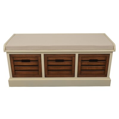 August Grove Maia Wood Storage Entryway Bench