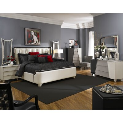 Michael Amini Beverly Boulevard Platform Customizable Bedroom Set