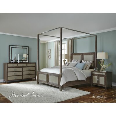 Michael Amini Biscayne West Canopy Customizable Bedroom Set