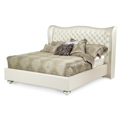Michael Amini Hollywood Swank Upholstered Platform Bed