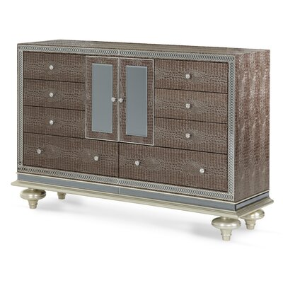 Michael Amini Hollywood Swank 9 Drawer Combo Dresser