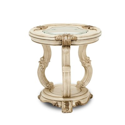 Michael Amini Platine De Royale Chairside Table