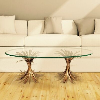 Fashion N You by Horizon Interseas Wheat Gold Antique Coffee Table