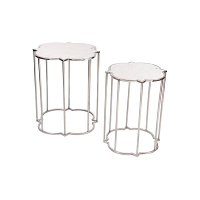 Fashion N You by Horizon Interseas Azka 2 Piece Nesting Tables