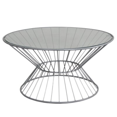 Fashion N You by Horizon Interseas Wire Coffee Table with Glass Top