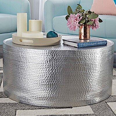 Fashion N You by Horizon Interseas Lyric Hammered Coffee Table