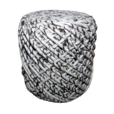 Foreign Affairs Home Decor Wonder Round Woven Pouf Ottoman