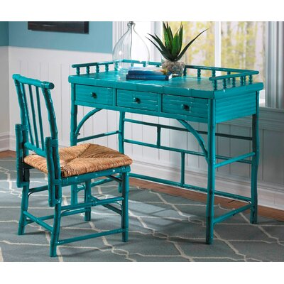 Kenian Coastal Chic Petite Writing Desk with Chair