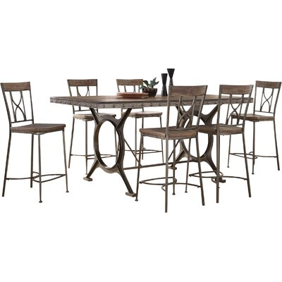 Trent Austin Design Merino 7 Piece Count Height Dining Set