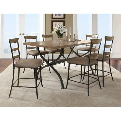 Hillsdale Furniture Charleston 7 Piece Counter Height Dining Set