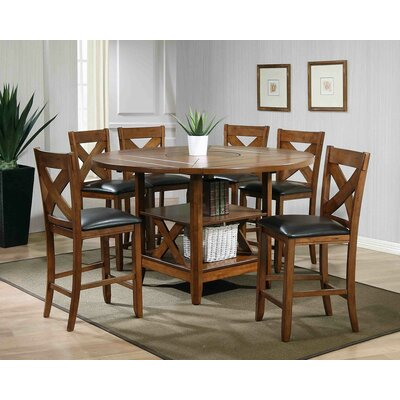 Ultimate Accents Lodge 7 Piece Counter Height Dining Set