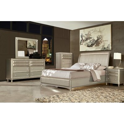 Ultimate Accents City Nights Sleigh 5 Piece Bedroom Set