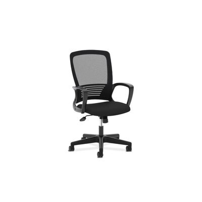 Basyx by HON High-Back Mesh Office Chair with Fixed Arms