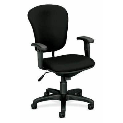 Basyx by HON Mid-Back Fabric Task Chair with Adjustable Arms
