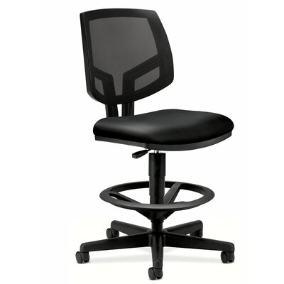 Basyx by HON Volt Series Mid-Back Mesh and Leather Task Chair