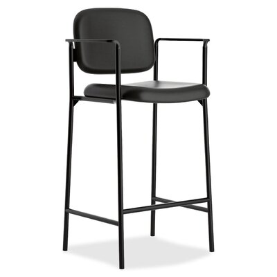 Basyx by HON HVL636 Series Cafe-Height Stool with Arms (Set of 2)