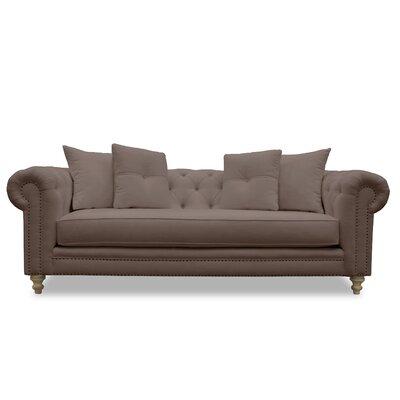 South Cone Home Hanover Tufted Linen Sofa