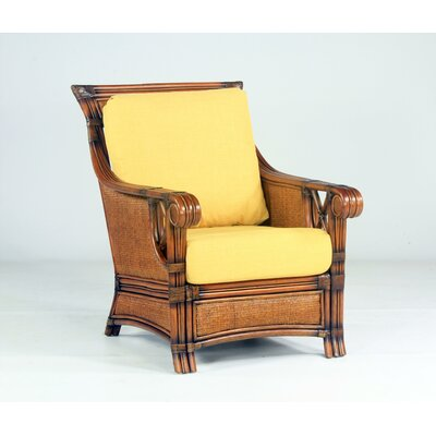 South Sea Rattan Pacifica Jasmine Antique Stripe Armchair