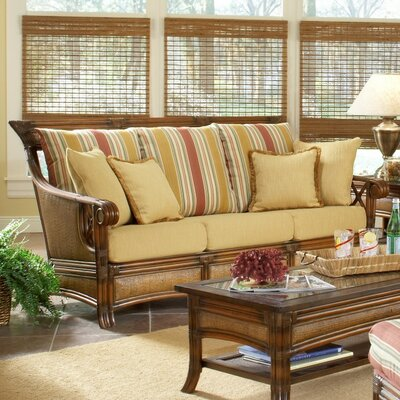 South Sea Rattan Pacifica Jasmine Antique Stripe Sofa