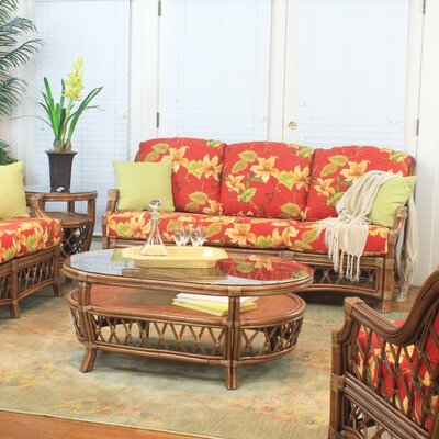 South Sea Rattan Nadine Bamboozel Plantain Sofa