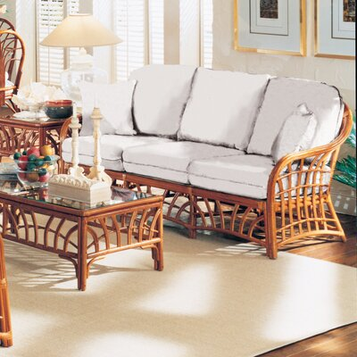 South Sea Rattan New Kauai Jasmine Antique Stripe Sofa
